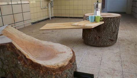 mira estos hermosos muebles hechos  troncos de arboles