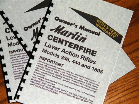 Marlin Lever Action 336 444 1895 Centerfire Rifle Owners