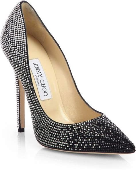 Guess Charlote Silverblack jimmy choo tartini crystalcoated suede degrade pumps in