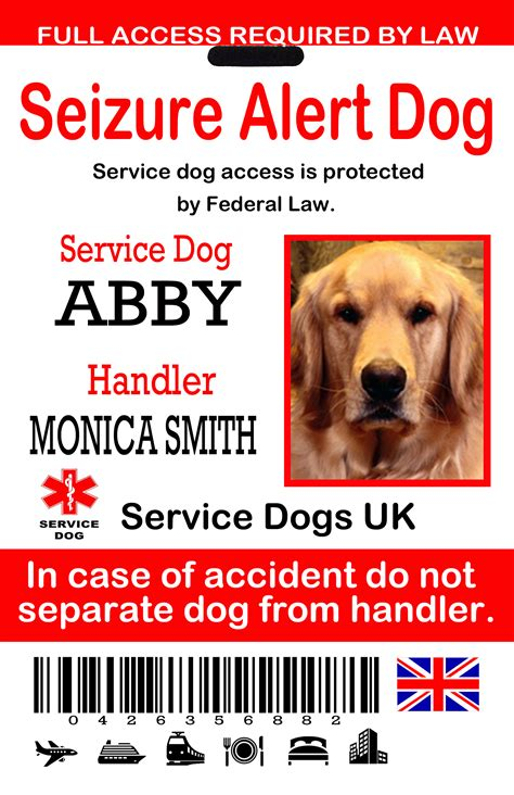 service dogs for epilepsy uk service id tags the sewing network