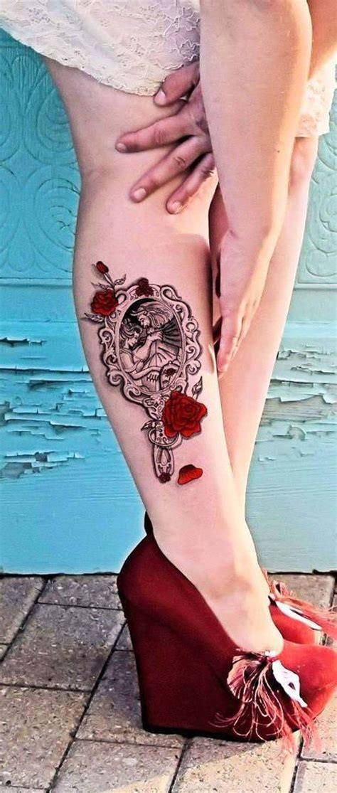 rose tattoo on calf 30 unique disney ideas for calf leg leg