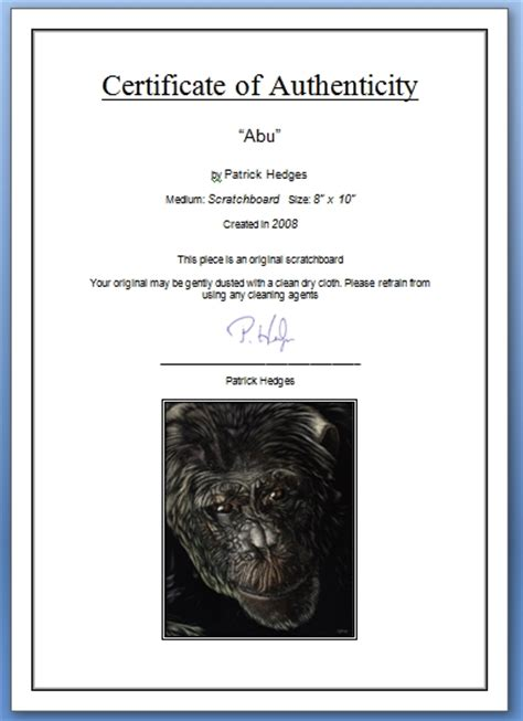 certificate of authenticity photography template how to create a certificate of authenticity wetcanvas