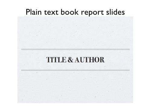 plain and book report sle book review text slides