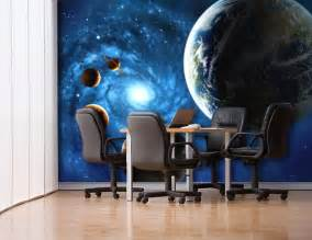Photo Realistic Wall Murals 3d outer space universe non woven wall mural realistic