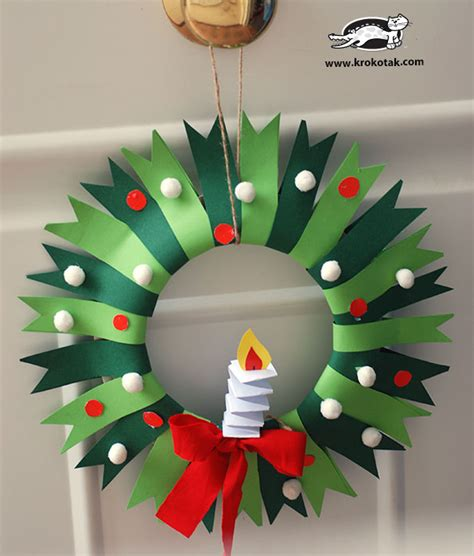 christmas wreath christmas and winter craft for kids