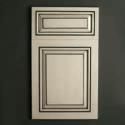 Glazed Kitchen Cabinet Doors Satin White With Black Glaze Cabinets Pinterest