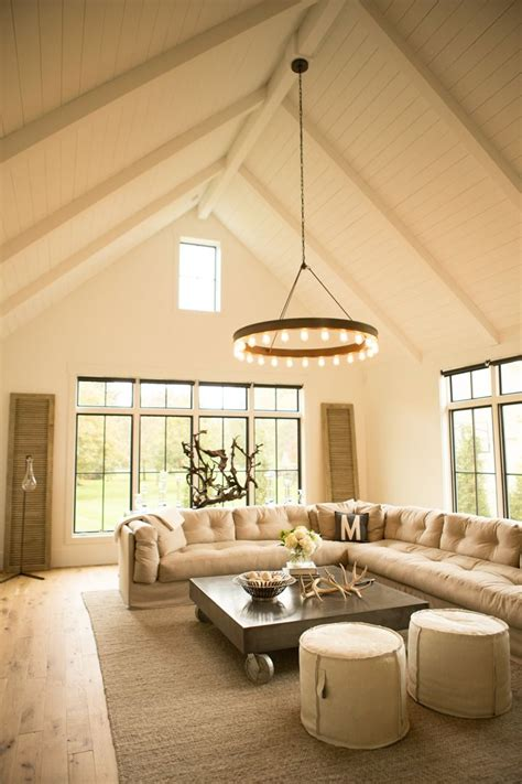 Living Room With Vaulted Ceiling Vaulted Wood Planked Ceiling Living Room