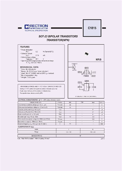 datasheet transistor c1815 c1815 4596711 pdf datasheet ic on line