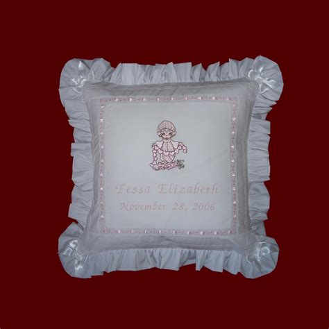 precious moments pillow precious moments personalized pillow pillows smocked
