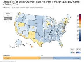 us map global warming interactive map reveals spread of climate change opinion