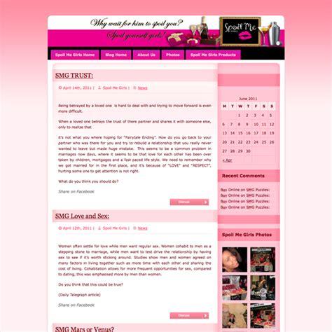 blog examples sauced  websites  print design
