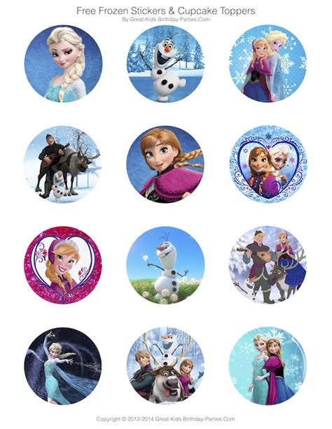printable frozen characters frozen party