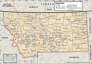 Montana Map With Cities by State And County Maps Of Montana