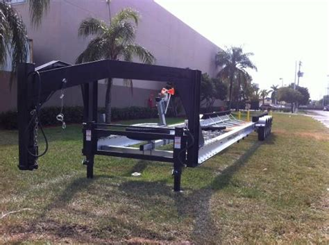triple axle boat trailer for sale craigslist new 2014 real x trailers gooseneck boat trailer rr451x
