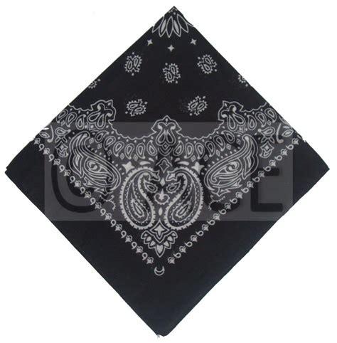 Mj Grey Set Suspender 100 cotton paisley bandana headwrap biker mask scarf