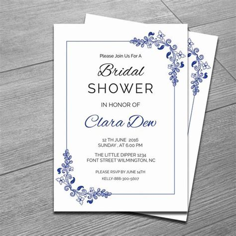 Items Similar To Printable Bridal Shower Invitation Template Diy Bridal Shower Invitation Free Bridal Shower Invitation Templates For Word