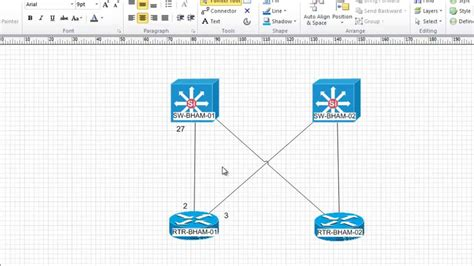 how to create network diagram in visio 2010 free