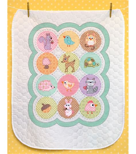 Dimensions Baby Quilt by Dimensions Baby Hugs Happi Woodland Quilt Sted Cross