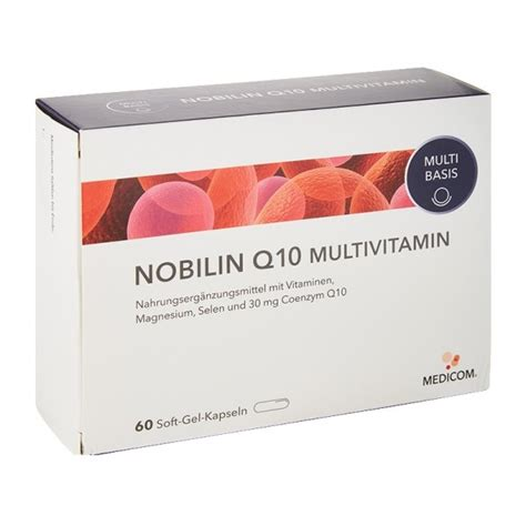 Nu Q Ten Vitamin Jantung Nobilin Q10 Multi Vitamin Capsules With B Vitamins