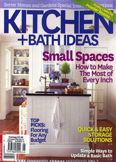 kitchen ideas magazine bhg kitchen and bath ideas magazine subscription buy at