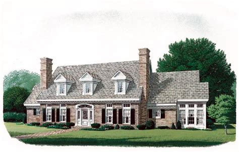 Colonial Cape Cod House Plans by House Plan 90320 At Familyhomeplans