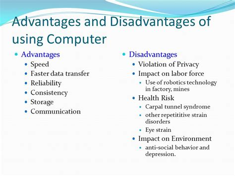 Advantage Of Computer Technology Essay by Disadvantages Of Computer Technology Cmpf112 Computing
