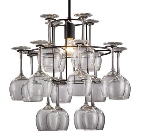 Wine Glasses Chandelier Themed Bar Lights For A Personalized Home Bar