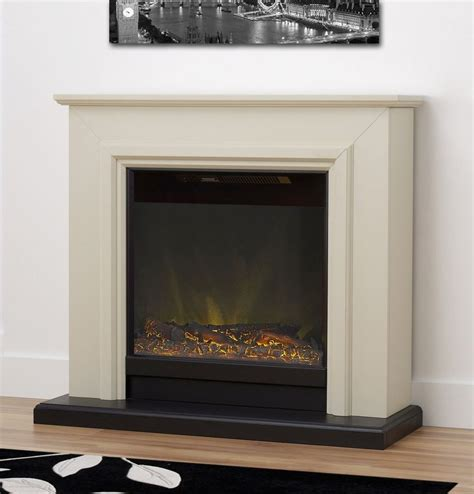 Electric Fireplace Suites Freestanding by Freestanding Electric White Effect Ston Fireplace