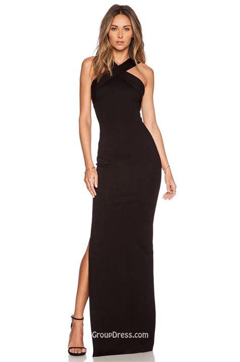what is a slit l long black halter dress cocktail dresses 2016