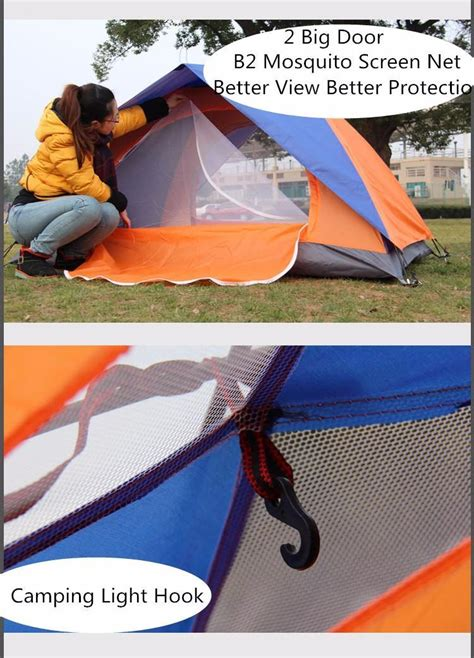 Tenda 2 Person Outdoor Tent Layer Cing Waterproof 3 Season outdoor 2 cing tent layer 2 doors