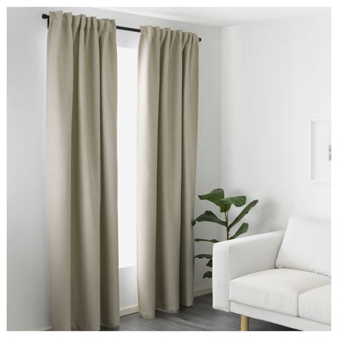 Ikea Textiles Curtains Decorating Vilborg Curtains 1 Pair Beige 145x250 Cm Ikea