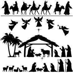 free nativity cricut three fold card template 17 best images about silhouette on free