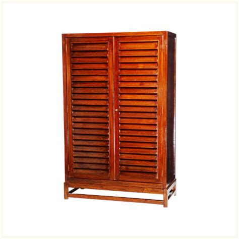 louvered armoire andaman louvered armoire british colonial burma teak