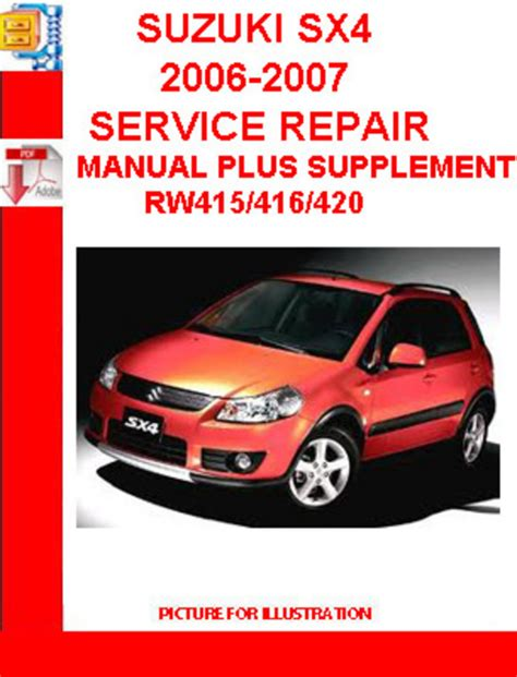 car repair manuals online pdf 2007 suzuki sx4 head up display suzuki sx4 2006 2007 service repair manual plus supplement down