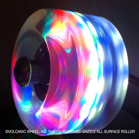 light up roller skate wheels volcanic self lightup skate wheels roller indoor