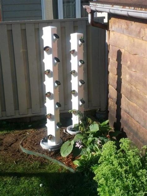 Build Vertical Hydroponic Garden Hydroponic Systems Fence Posts And Towers On
