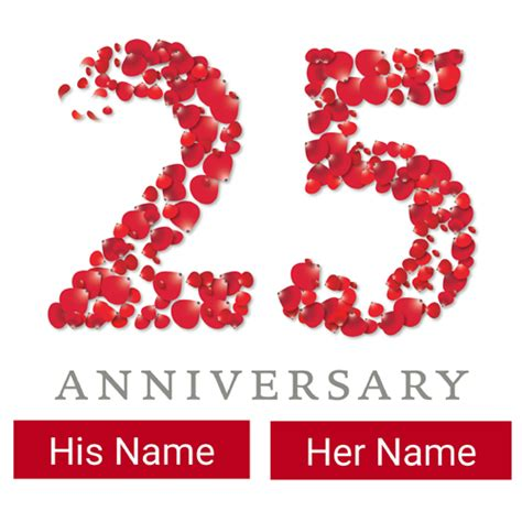 25th Wedding Anniversary Wishes And by Wish Happy Anniversary By Customized Anniversary Card