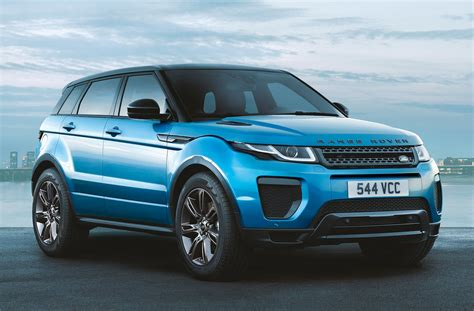 range rover evoque blue range rover evoque landmark edition gets special shade of