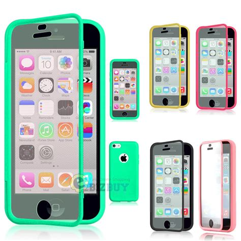 Cover For Iphone 55s Cover for apple iphone 5c tpu wrap up phone cover with built in screen protector ebay