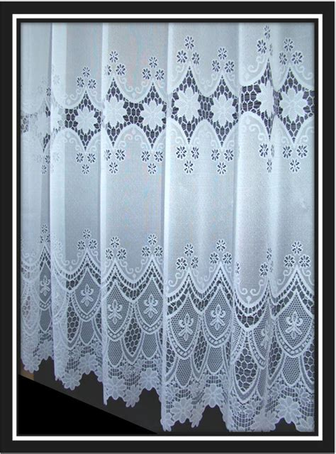 special order curtains scalloped white net curtains special drop sizes 4 designs