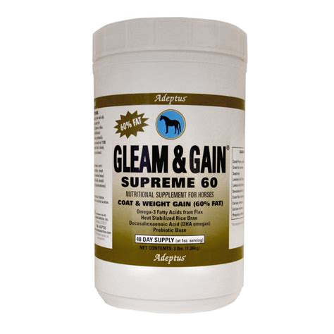 Equine Detox Supplement Pasadena Ca by Gleam Gain Supreme 60 174 Adeptus Nutrition