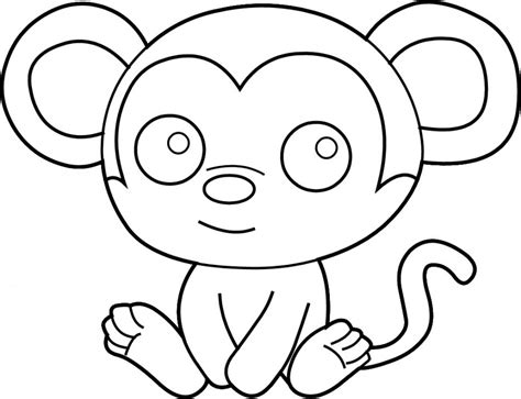 Outline Of A Monkey by Outline Of A Monkey Cliparts Co