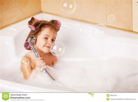 bathtub girls little girl in the bathtub stock photo image of soap