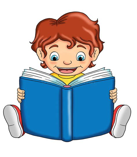 immagini clipart bambini bambino che legge illustrazione di stock illustrazione di