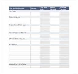 debt spreadsheet template sle debt reduction calculator 6 documents in pdf excel
