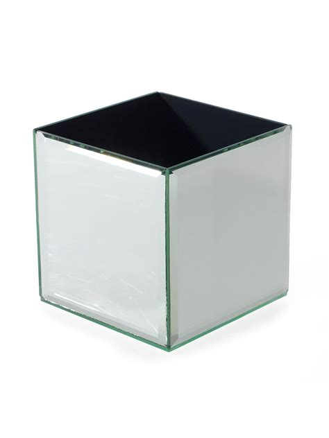 4 Inch Square Vase by Mirror Cube Vase 4 Inch Square