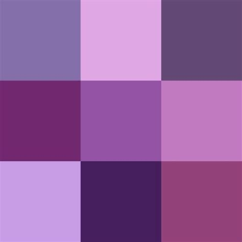 shades of purple color chart car interior design