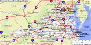 Road Map Of Virginia by Map Of Virginia Cities Map Of The World