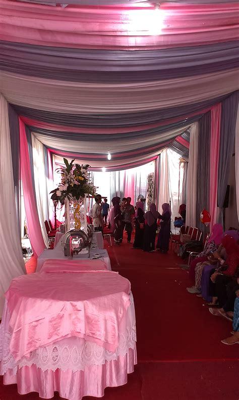 Salur Putih tenda salur putih pink silver sewa tenda murah