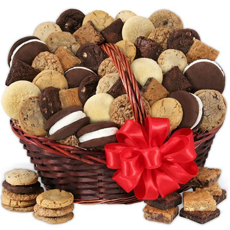 baked goods gifts baked goods deluxe gift basket by cheesecake